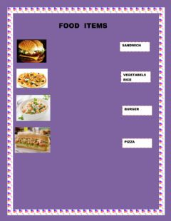 Interactive worksheet FOOD ITEMS