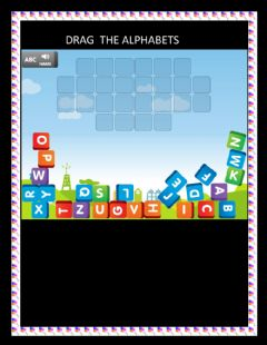 Interactive worksheet drag the alphabets