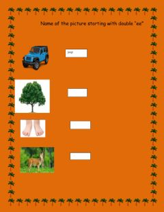 Interactive worksheet ee letters