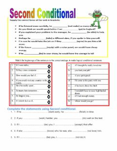 Second conditionals worksheet preview