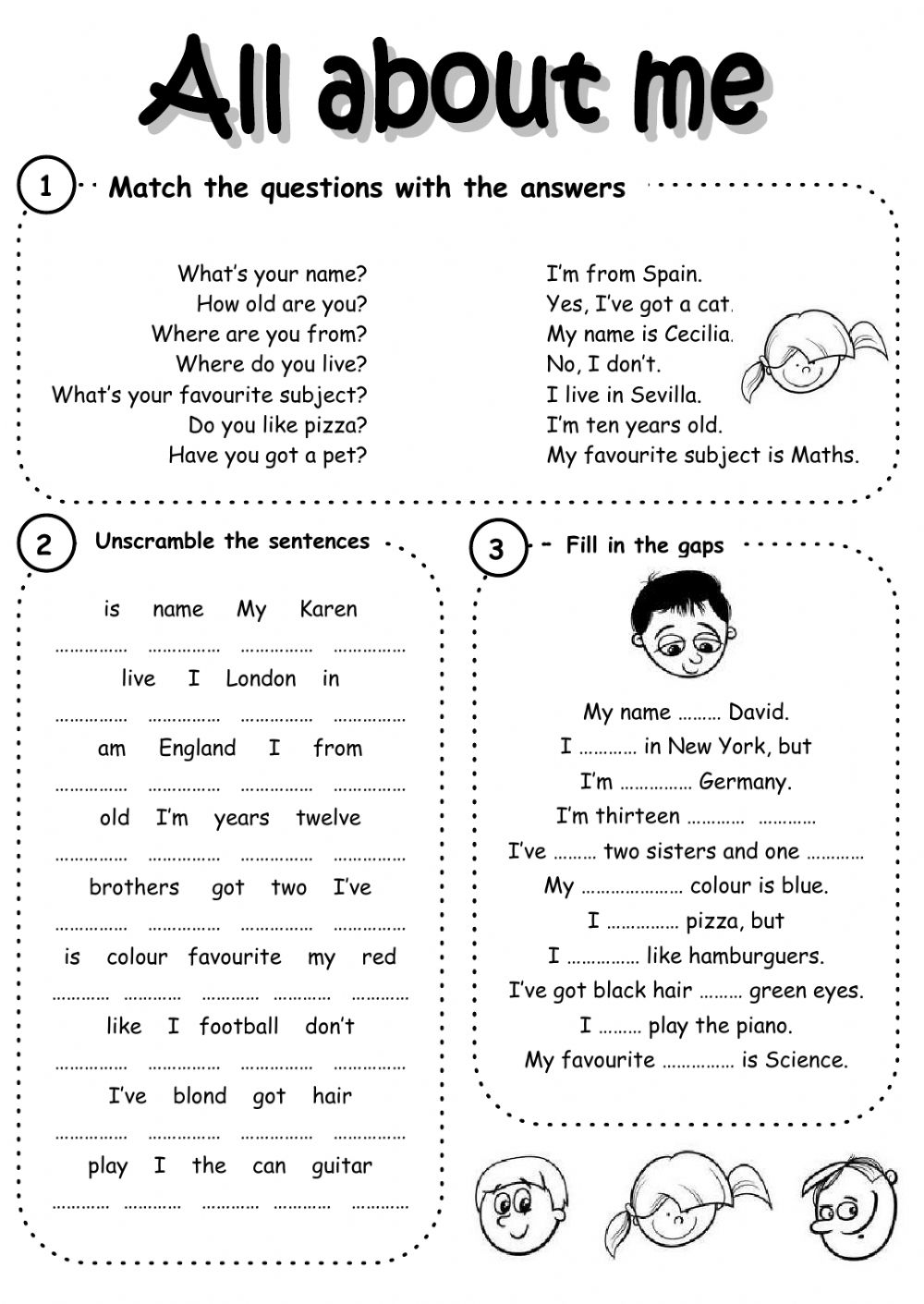 Introducing yourself interactive worksheets interactive worksheet all about me m4hsunfo