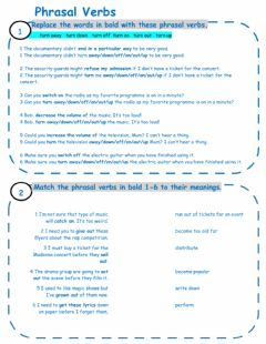Phrasal Verbs worksheet preview