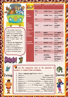 Interactive worksheet Comparisons with Scooby Doo