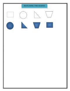 Interactive worksheet MATCHING THE SHAPES