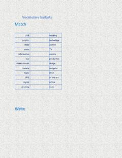 Interactive worksheet Vocabulary Gadgets and Entertainment