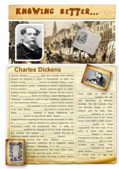 Ficha interactiva Knowing Better...Charles Dickens