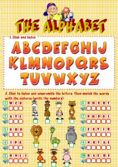 The alphabet worksheet preview