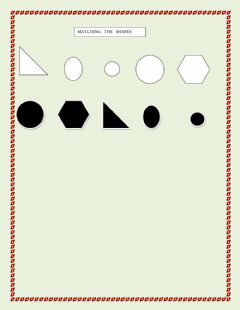 MATCHING THE SHAPES LEVEL2 worksheet preview