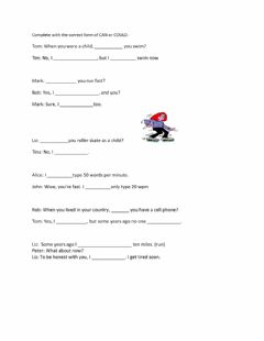Interactive worksheet can and could