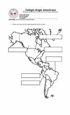 Interactive worksheet Nationalities