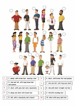 Interactive worksheet Describe people