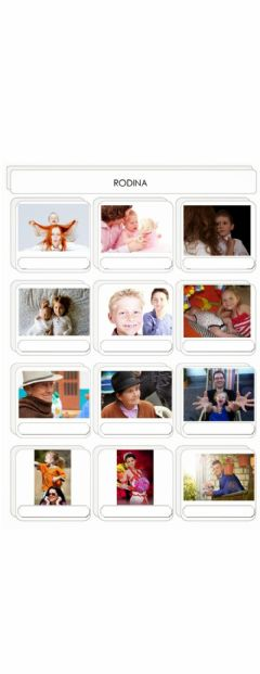 Interactive worksheet Rodina (Czech Vocabulary online exercises: Family - video and an interactive game)
