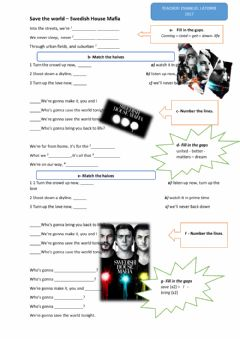 Interactive worksheet Save the world (Swedish House Mafia)