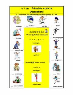 Interactive worksheet A - AN OCCUPATIONS