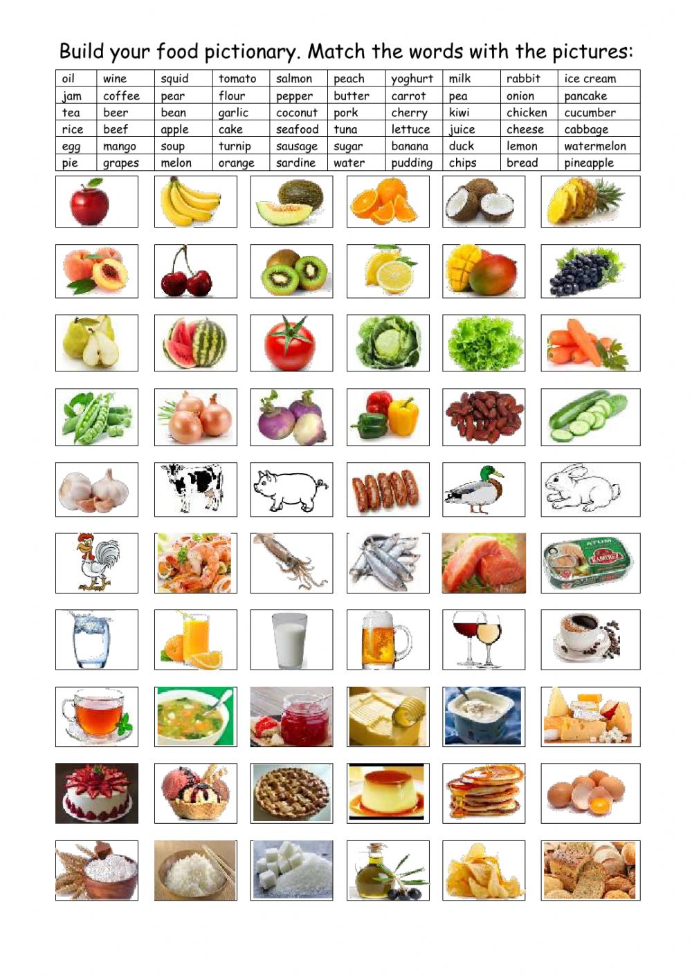 Workbooks spanish food worksheets : The food Interactive worksheets
