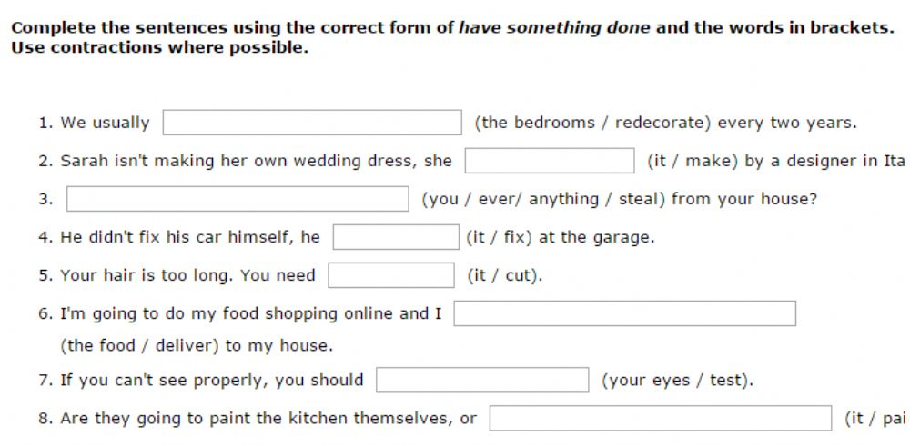 Have Something Done Interactive worksheet – To Too Two Worksheets