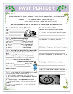 Interactive worksheet Past Perfect Tutor - Exercises