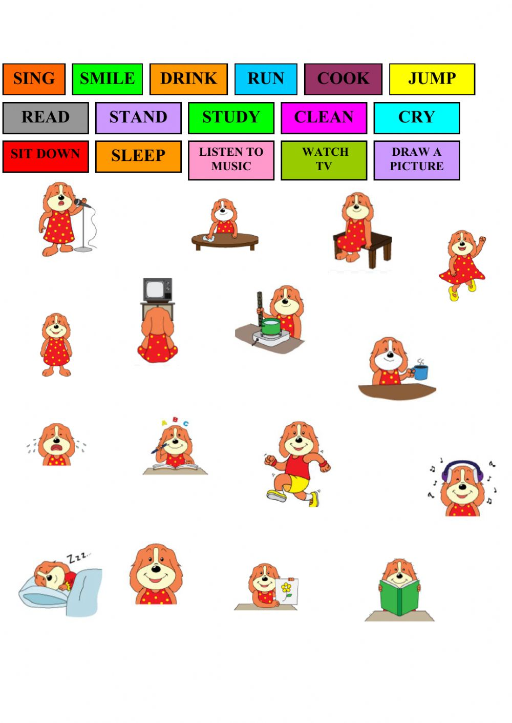 Interactive Worksheet Action Verbs  Action Verbs