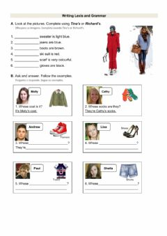 Interactive worksheet Possessive case