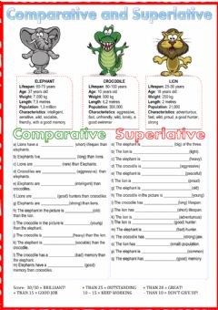 Comparative and superlative worksheet preview
