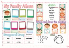 Family album worksheet preview