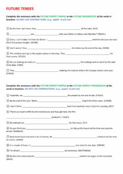 Interactive worksheet Future Tenses