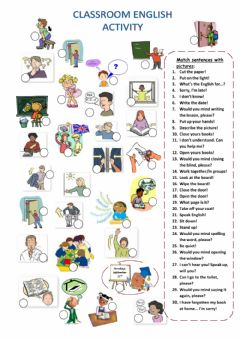 Classroom English worksheet preview