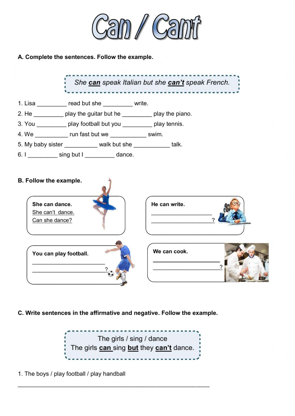 can - Interactive worksheet