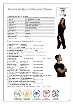 Interactive worksheet Sports Phrasal Verbs