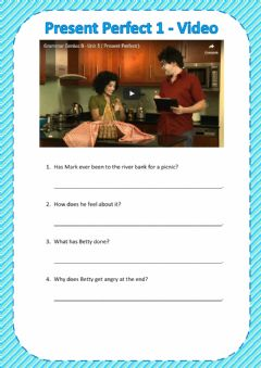 Present Perfect - Videos worksheet preview