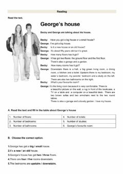 Interactive worksheet Reading test