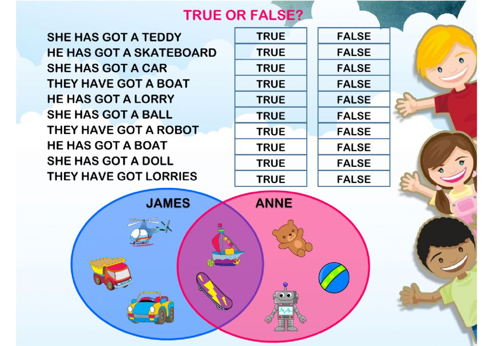 Have Got True Or False Interactive Worksheet. Worksheet. Have Has Worksheets At Mspartners.co