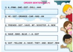 have got (order sentences 01) worksheet preview
