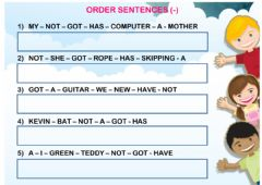 Ficha interactiva have got (order sentences 02)