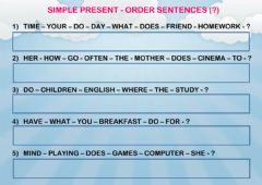 Interactive worksheet Simple Present - order sentences 3