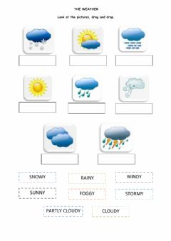 Weather worksheet preview