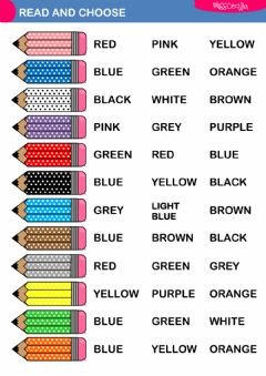 english exercises vocabulary for young learners what colour are the fish. Black Bedroom Furniture Sets. Home Design Ideas