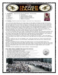 Interactive worksheet Hunger Games Reaping Reader