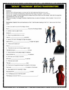Such-So Too-Enough Sentence Transformations worksheet preview
