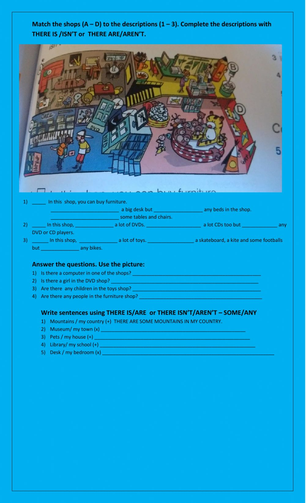 There is - there are Interactive worksheets