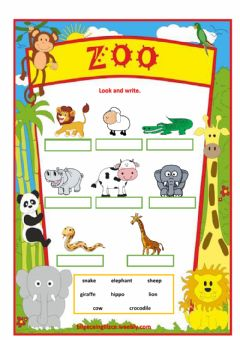 Ficha interactiva ANIMALS  -Drag and drop - with video