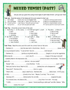 Mixed Tenses (Past) worksheet preview