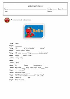 English exercises greetings and introductions hello worksheet preview m4hsunfo