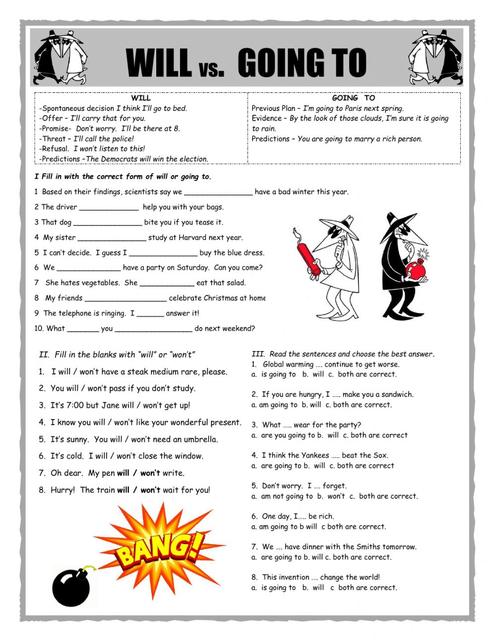 Future Tenses Interactive Worksheets