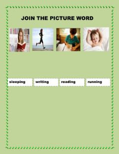 Interactive worksheet join the picture word