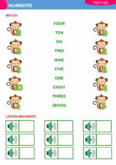 Interactive worksheet NUMBERS (1 TO10)