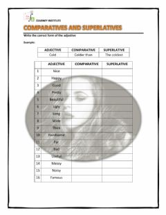 Interactive worksheet Comparatives and Superlatives