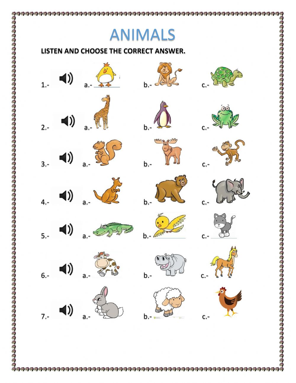 animals interactive worksheet. Black Bedroom Furniture Sets. Home Design Ideas