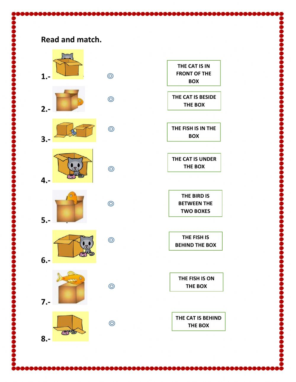 Prepositions Of Place Interactive Worksheet