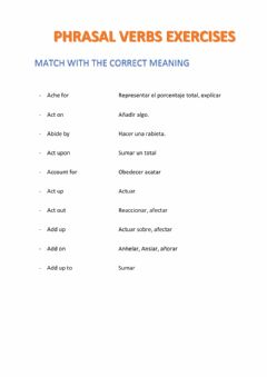 Interactive worksheet MATCH WITH THE MEANINGS